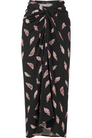 Seychelles Lee printed voile wrap skirt