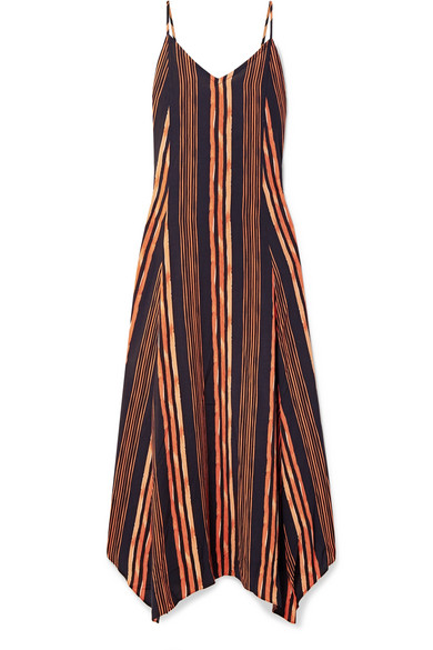 Isabela Deana Striped Voile Maxi Dress by Vi X