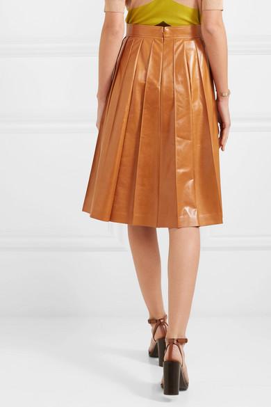 Bottega Veneta Skirts Pleated glossed-leather skirt