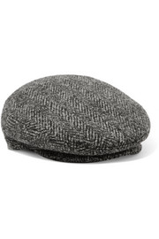 Gabor herringbone wool-tweed cap