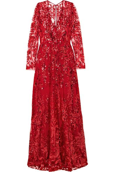 618e0f91d8c Naeem Khan | Sequined tulle gown | NET-A-PORTER.COM