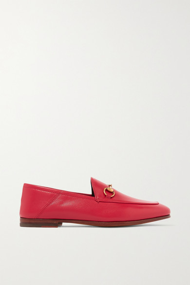 Gucci Brixton Horsebit-Detailed Leather Collapsible-Heel Loafers In 6433Red