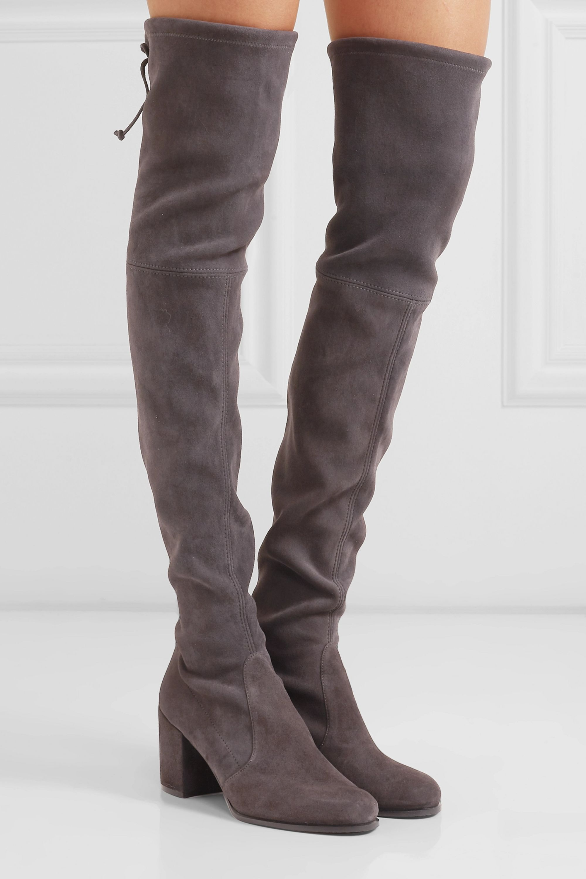 Suede Stretch Over the knee Boot