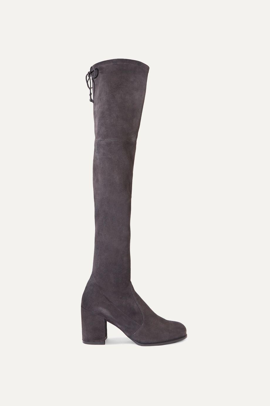 Stuart Weitzman Tieland stretch-suede over-the-knee boots