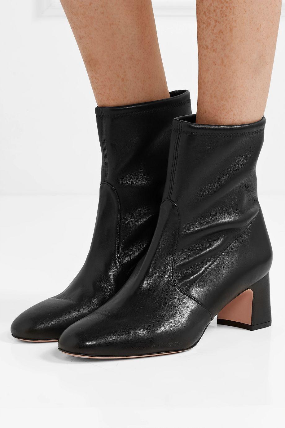 Stuart Weitzman Niki leather sock boots
