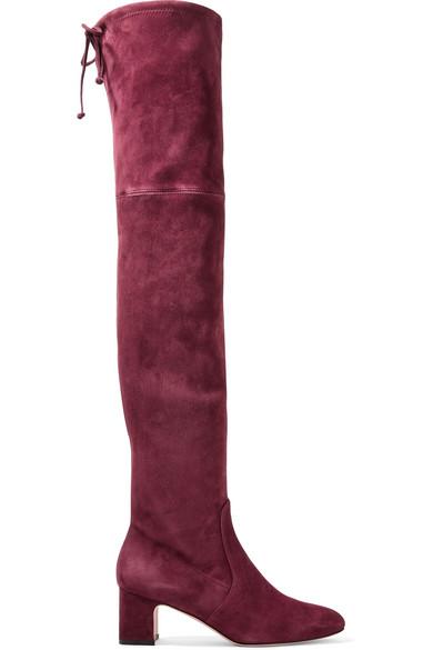 Stuart Weitzman Boots Kirstie suede over-the-knee boots