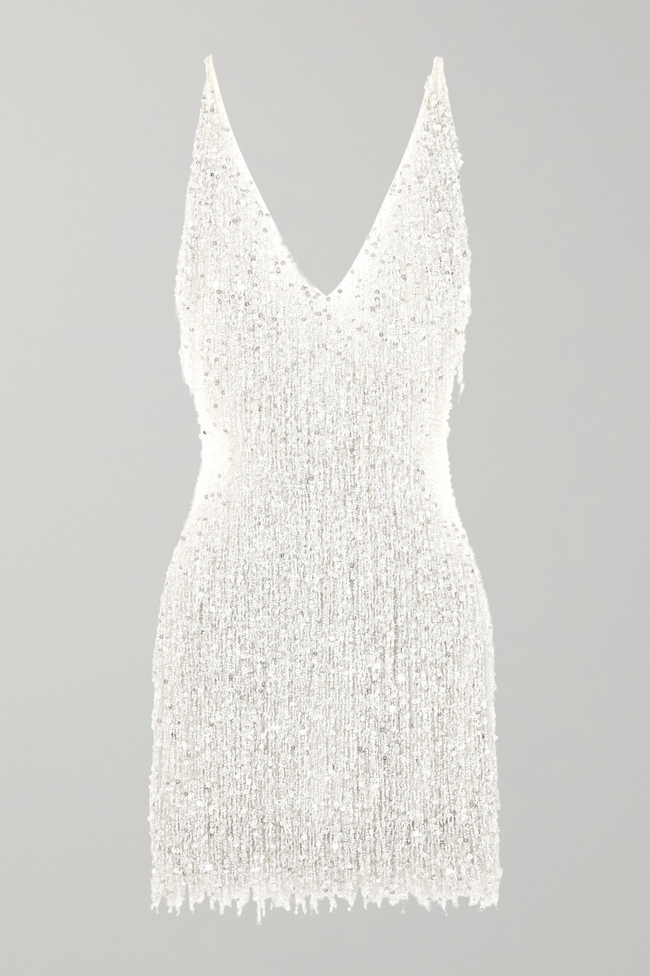 Naeem Khan Mini-robe en mousseline à ornements Gatsby