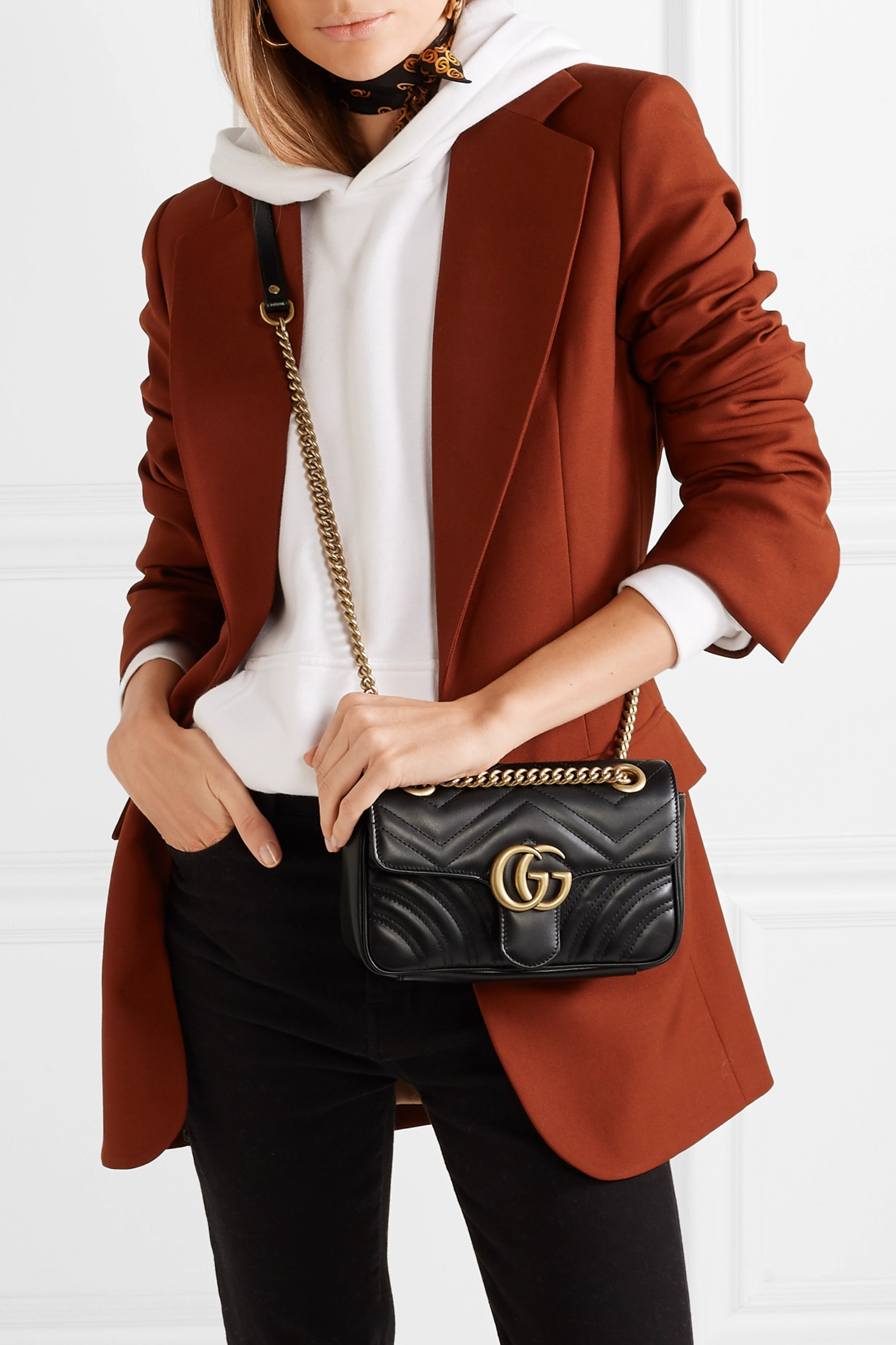 Gucci GG Marmont quilted leather shoulder bag