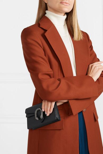 Gucci Shoulder Dionysus super mini textured-leather shoulder bag