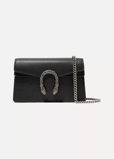 fc6e103f99588f Gucci | Dionysus super mini textured-leather shoulder bag | NET-A ...