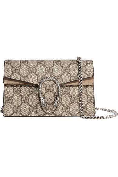 ea821716117 Gucci. Dionysus super mini printed coated-canvas and suede shoulder bag