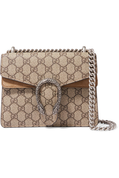 d3a568a094 Gucci. Dionysus mini printed coated-canvas and suede shoulder bag