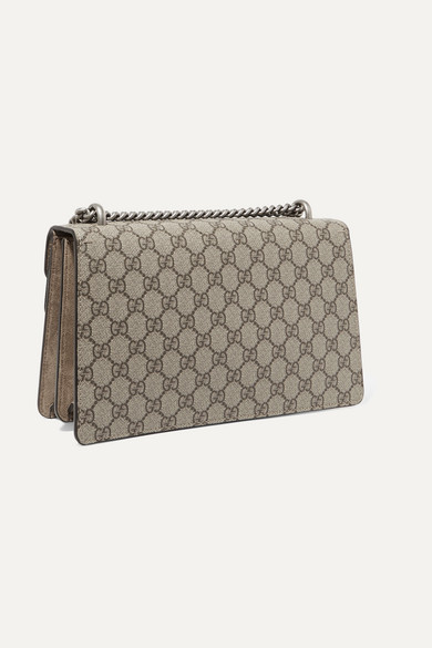 33a48c417c0 Gucci. Dionysus small printed coated-canvas and suede shoulder bag