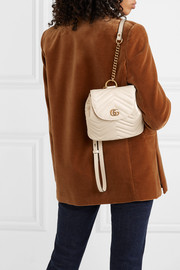 GucciGG Marmont quilted leather backpack