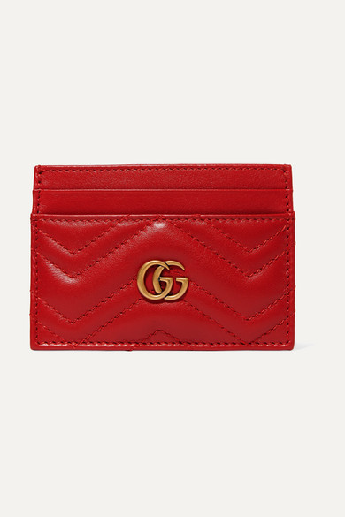4c8ad0973e0a5 Gucci | GG Marmont quilted leather cardholder | NET-A-PORTER.COM