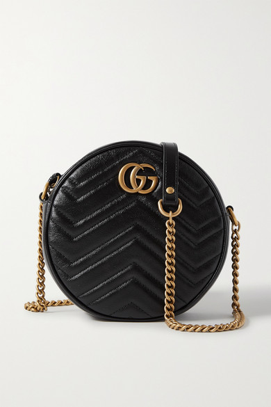 b24c37e7c Gucci | GG Marmont Circle quilted leather shoulder bag | NET-A ...