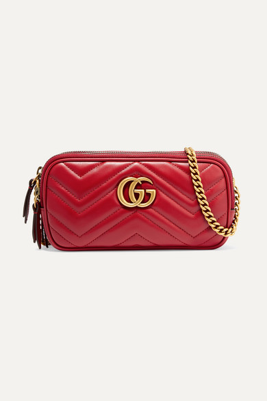c82fb610ee62 Gucci. GG Marmont mini quilted leather shoulder bag