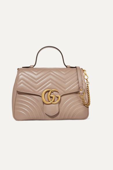Gucci Medium Gg Marmont 2.0 Matelasse Leather Shoulder Bag - White In 5729 Beige