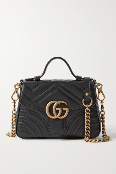 ff65cb2f6 Gucci Gg Marmont Mini Quilted Leather Shoulder Bag In Black ...