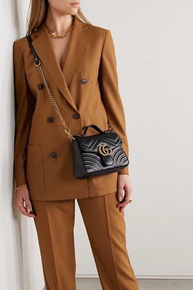1d116119ac73aa Gucci | GG Marmont mini quilted leather shoulder bag | NET-A-PORTER.COM