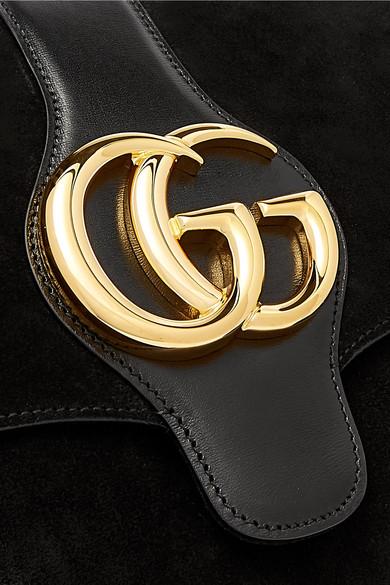 6b2017ce1ed3 Gucci. Arli medium leather-trimmed suede shoulder bag. £1,770. Play
