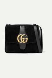 Gucci Arli leather-trimmed suede shoulder bag
