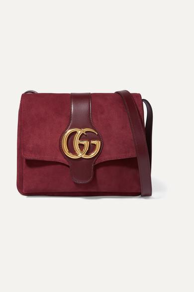 eb6bceeb739f Gucci | Arli medium leather-trimmed suede shoulder bag | NET-A ...