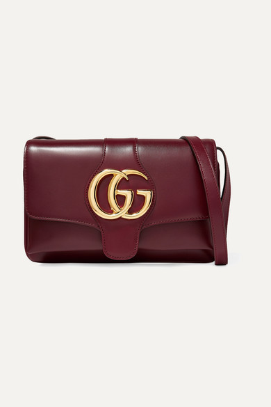Small Arli Convertible Shoulder Bag - Burgundy
