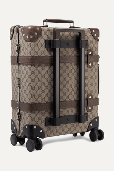 9ccec067589f Gucci | + Globe-trotter leather-trimmed coated-canvas suitcase | NET ...