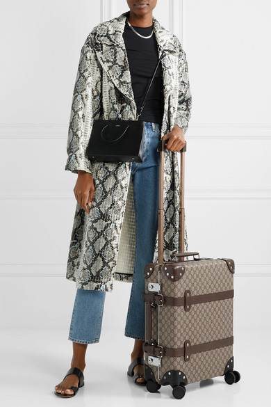 Gucci Travel + Globe-Trotter leather-trimmed printed coated-canvas suitcase