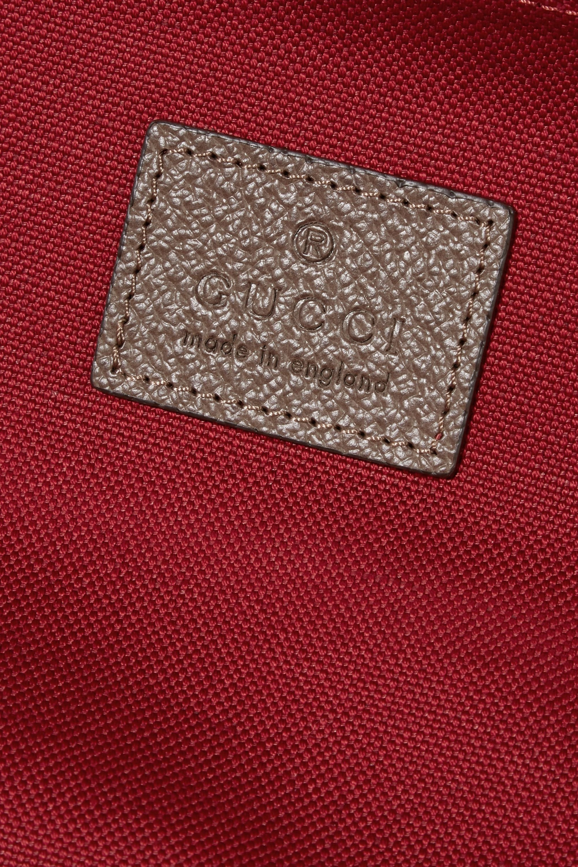 Gucci x Globe-Trotter 皮革边饰印花涂层帆布大号行李箱