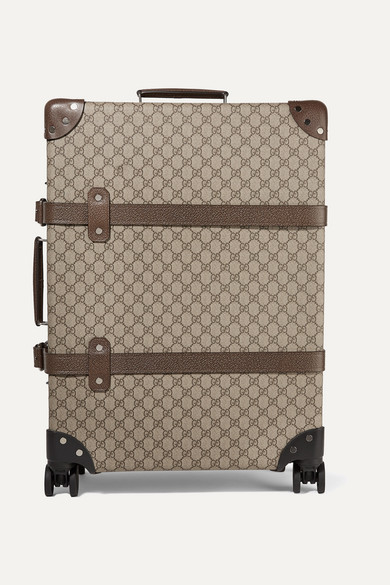 853bf329e Gucci | + Globe-Trotter medium leather-trimmed printed coated-canvas ...