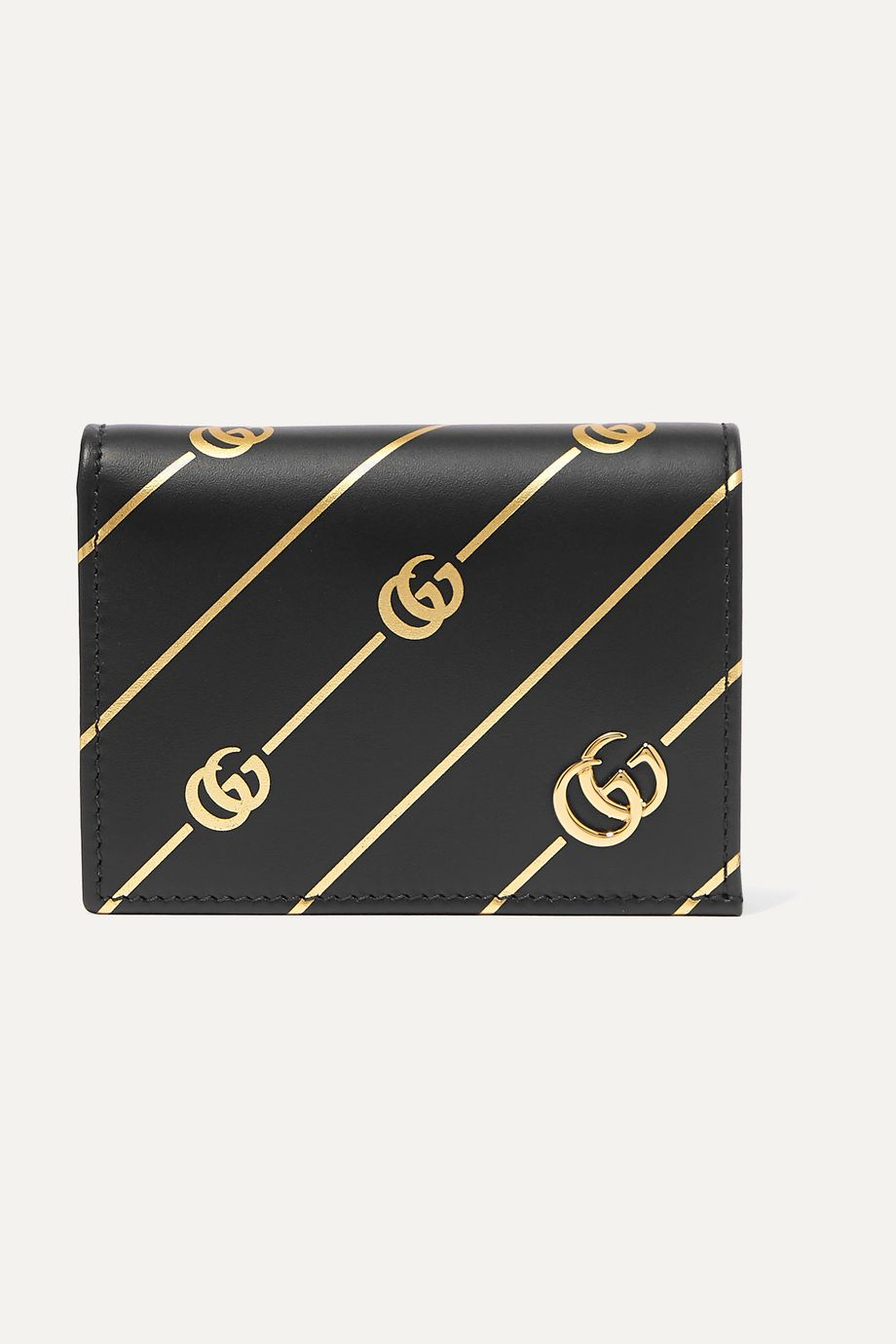 Gucci Printed leather cardholder