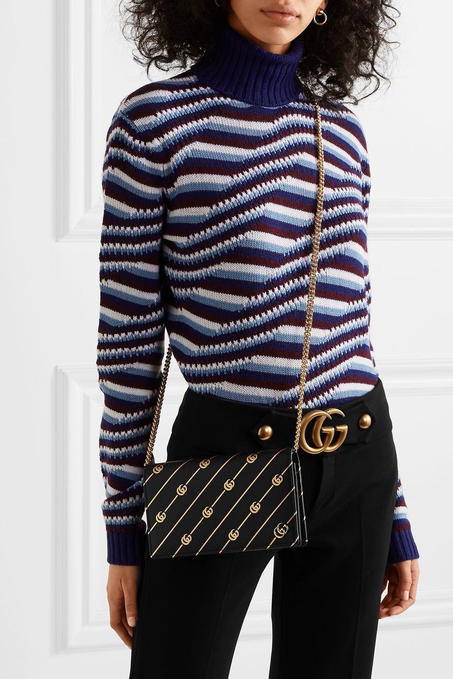 Gucci Printed leather shoulder bag
