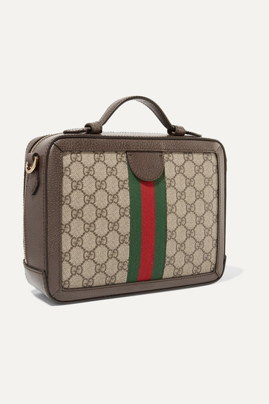 4df867809e31 Gucci. Ophidia small textured leather-trimmed printed coated-canvas camera  bag