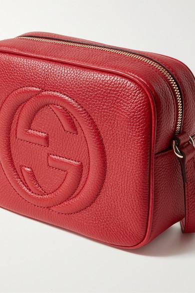 Gucci Shoulder Soho Disco textured-leather shoulder bag