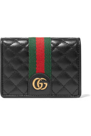 Trapuntata quilted leather cardholder