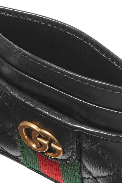 GUCCI Leathers Quilted leather cardholder