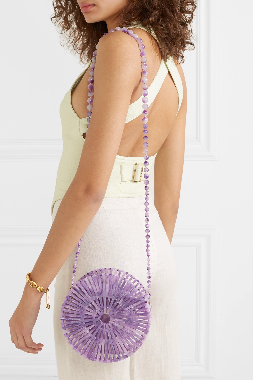 Cult Gaia Luna marbled acrylic shoulder bag
