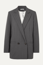Garvey pinstriped stretch-cady blazer