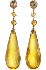 Collection 18-karat gold multi-stone earrings