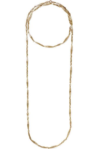 FRED LEIGHTON 1890S 9-Karat Gold Necklace