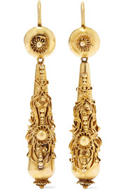 Victorian 18-karat gold earrings