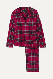 Checked flannel pajama set