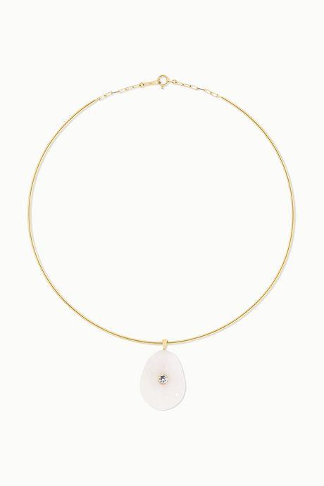 Gold 18-karat gold, stone and diamond necklace | CVC Stones 8iJV7Y