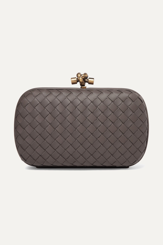 Bottega Veneta Chain Knot intrecciato leather clutch
