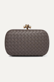 Bottega Veneta Chain Knot intrecciato leather clutch