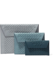Bottega Veneta Set of three intrecciato leather pouches