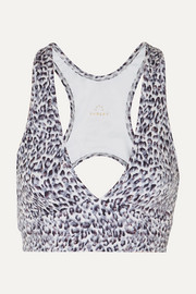 Varley Walsh cutout printed stretch sports bra