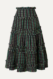 Proenza Schouler Tiered tweed maxi skirt